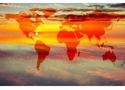 黄昏与世界地图