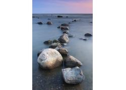 海岸的石头摄影