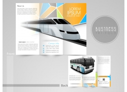 交通工具三折页模板图片