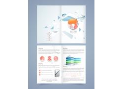彩色商务折页模板图片