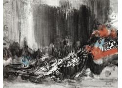 中国水墨山水风景画