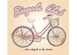 自行车印花图案