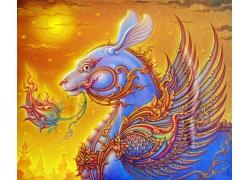 古代神兽插画图片