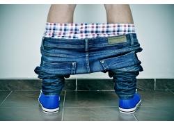 牛仔裤模特男士