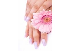 紫色美女指甲