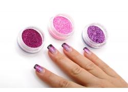 紫色美女指甲手
