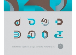 d字母标志设计