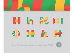 字母h标志设计