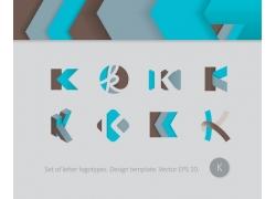时尚字母k标志