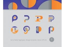 创意字母p标志设计