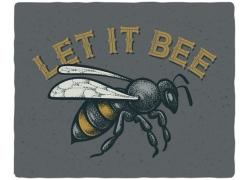 蜜蜂印花图案