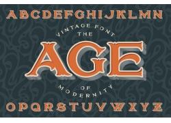 立体字母印花图案