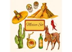 墨西哥元素插画