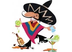 卡通墨西哥男人