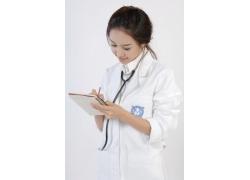 作笔记的护士美女