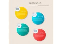 彩色圆形信息图表