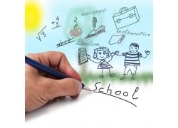 铅笔手绘儿童漫画