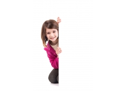 小女孩与广告牌