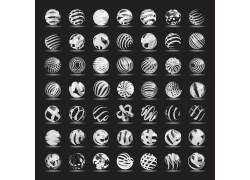 黑白科技地球标志