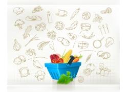 蔬菜水果餐饮信息图表
