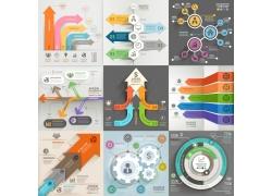 个性创意箭头信息图表
