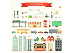 城市街景扁平化图表