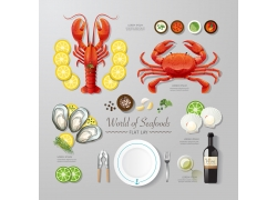 海鲜美食信息图表