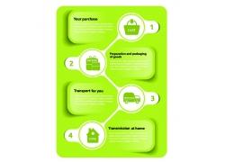 绿色圆形信息图表