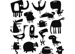 卡通动物插画图片