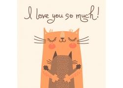 拥抱幸福的猫图片