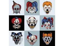 小丑印花设计