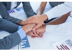团结合作的商务人士