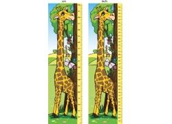 长颈鹿身高标尺图片