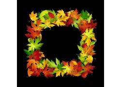 秋天树叶背景边框
