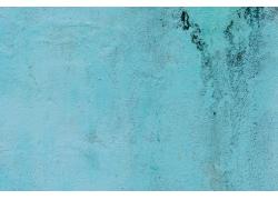 蓝色粉刷的墙壁