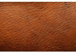 褐色波纹理皮革背景图片