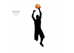 投篮的运动员