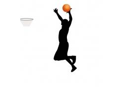 正在投篮的运动员