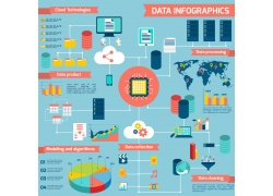 互联网科技商务信息图表