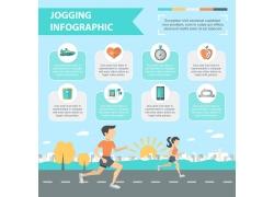 体育锻炼跑步信息图表