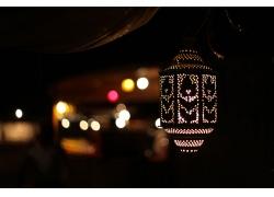 斋月节霓虹灯塔
