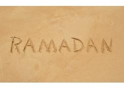 沙滩上的印度字