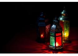斋月节漂亮的灯塔