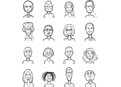 卡通人物插画图片