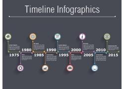 彩色立体圆环年份信息图表