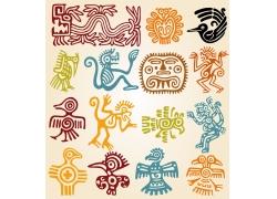 小鸟猴子墨西哥等花纹图案