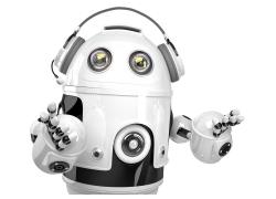 戴耳机的机器人