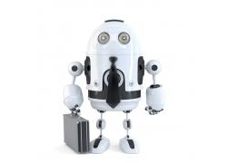 提着密码箱的机器人