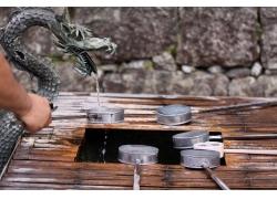 勺子木板水龙头