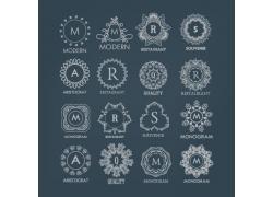 复古字母组合标志
